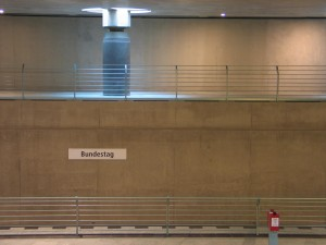 Wand in der Station Bundestag