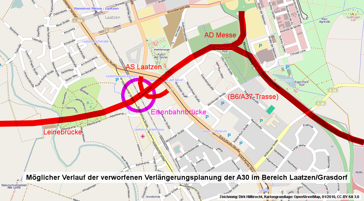 Laatzens Merkwürdigste Brücke Alte Autobahnplanungen Für Die A30