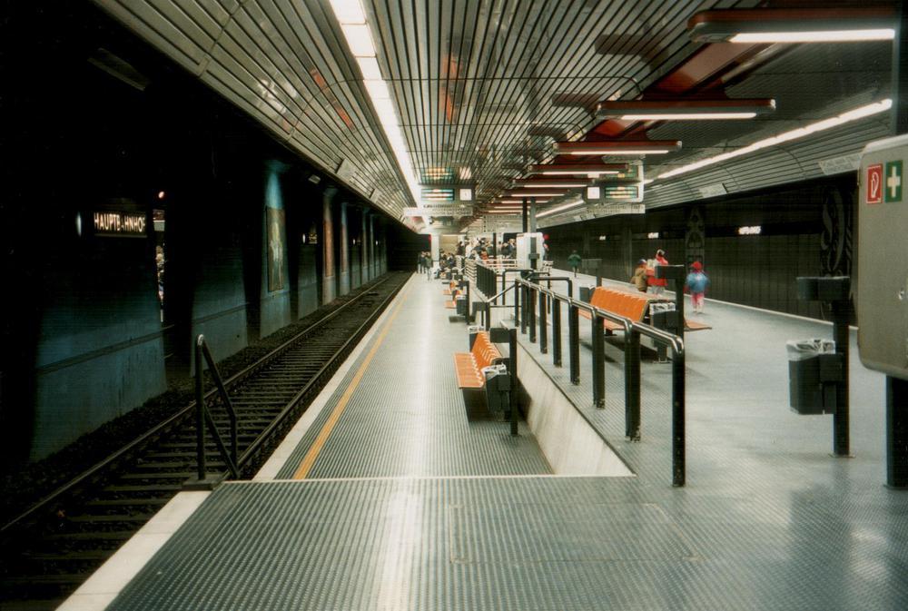Bonn, U-Bahnstation Hauptbahnhof, 1996