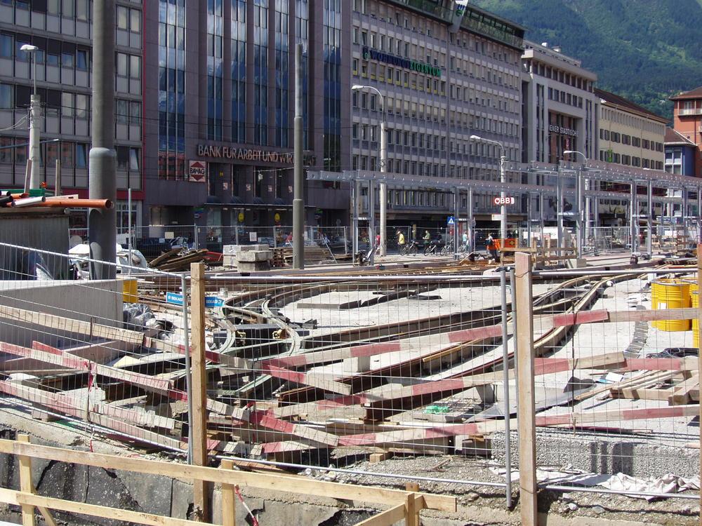Bahnhofsvorplatz Innsbruck, Ecke Salurnerstraße
