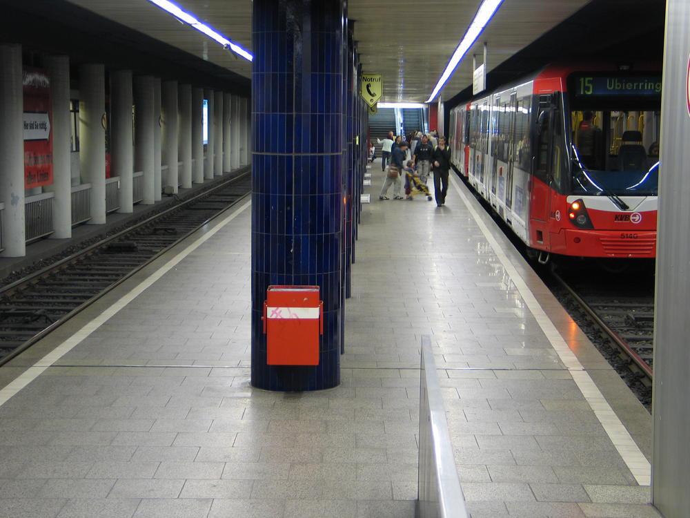 U-Bahnstation Ebertplatz, westlicher Bahnsteig