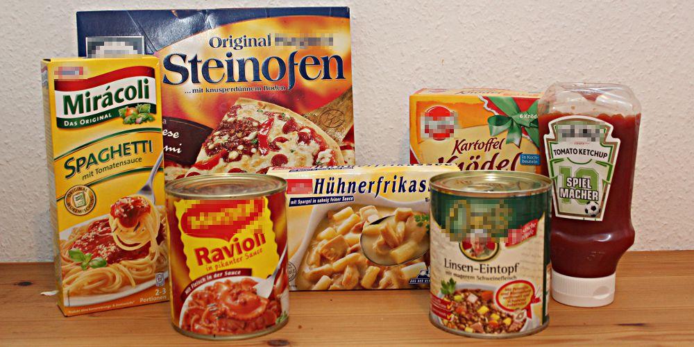 Bisheriger Speiseplan des Blogautors (Auszug): Eher verhaltene Freude bei der Ernährungsberatung...