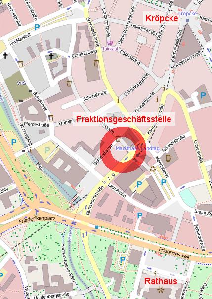 Zukünftige Fraktionsgeschäftsstelle: Köbelingerstraße 1
