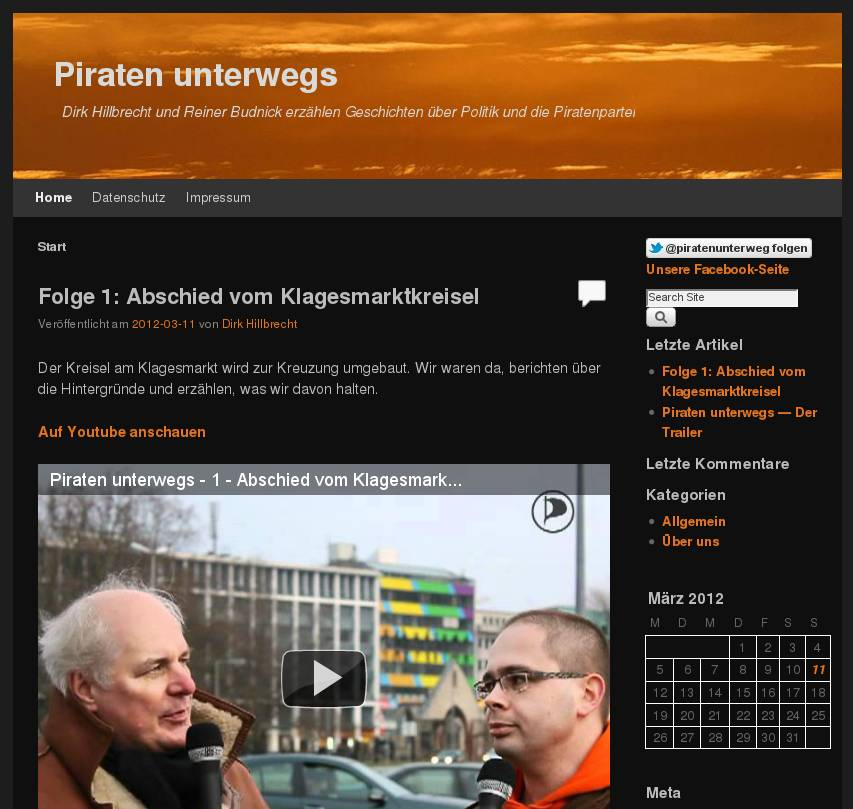 Piraten unterwegs - mein Podcast zusammen mit Reiner Budnick