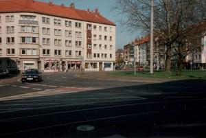 Goetheplatz: Hier würden sich die Linien trennen. Im Hintergrund die Goethestraße, wo auch der D-Tunnel beginnen würde