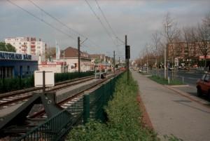 Streckenverlängerung Ahlem: Hier wurden bereits Hochbahnsteige gebaut