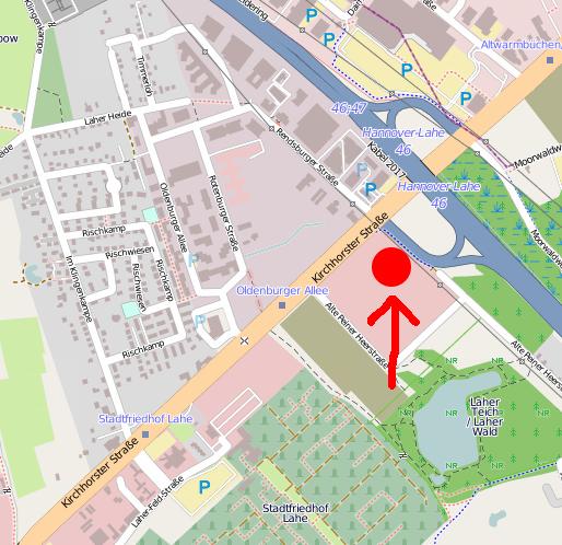 Standort an der Alten Peiner Heerstraße