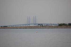 Öresundbrücke von Kastrup aus gesehen