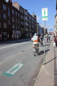 Grüne Welle für Radfahrer auf der Amagerbrogade