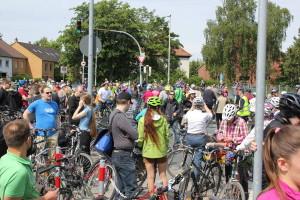 Anderten, Höversche Straße: Die Radler aus Lehrte stoßen dazu