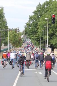 Fahrradsternfahrt auf der Lehrter Straße