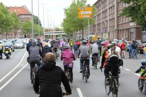 Fahrradsternfahrt auf der Friedrich-Ebert-Straße