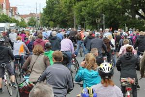 Stau auf der Ritter-Brüning-Straße