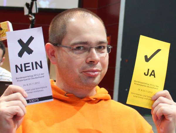 Der Blog-Autor 2012 beim Piraten-Bundesparteitag: Piraten? Ja? Nein?