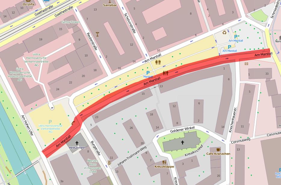 Darum geht es: Durchgängige Radverkehrsführung am Marstall