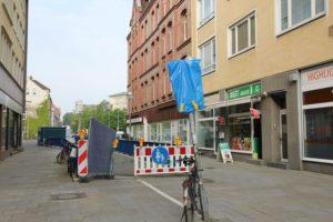 Unterführung aus Richtung Oststadt: Nur noch Fußgänger erlaubt
