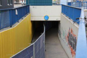 Halbseitige Sperrung der Unterführung: An die Wände sollen Graffiti