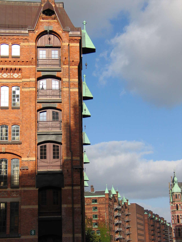 Speicherstadt: Neuer Wandrahm vom Kleinen Fleet aus gesehen, Hamburg, 2007