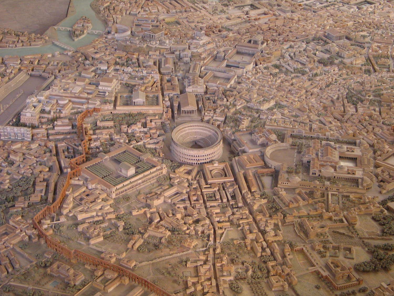 Modell des antiken Rom zur Kaiserzeit, Rom, 2009