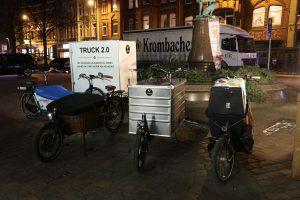 Lastenräder auf dem Lindener Marktplatz. Ansonsten war das Fahrrad eher Randthema.