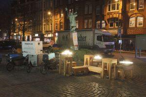Lastenräder und Stadtmöbel auf dem Lindener Marktplatz: Keimzelle der Platz-Da-Initiative