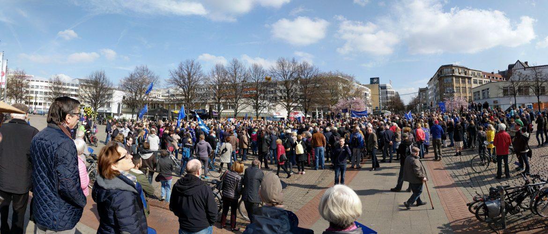 Pulse Of Europe auf dem Steintorplatz