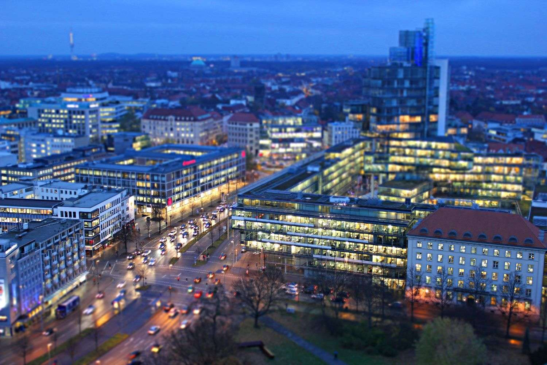 Aegidientorplatz mit simuliertem Miniatureffekt, Hannover, 2010