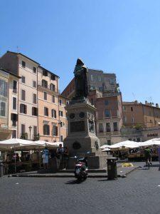 Giordano-Bruno-Statue, Piazza Campo de'Fiori, Rom, 2009