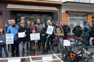 Kundgebung für mehr Platz für Fußgänger