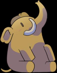Das Mastodon-Maskottchen: Ein Mastodon