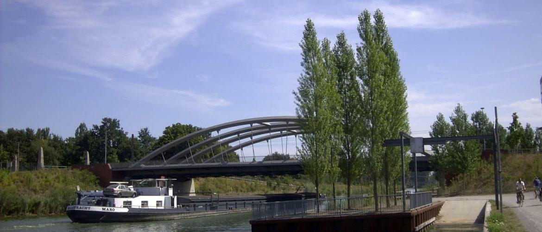 Mittellandkanal, Brücke Großer Kolonnenweg, Hannover, 2003