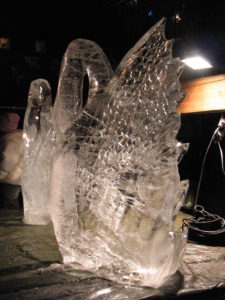 Eiskunst im finnischen Weihnachtsdorf, Hannover, 2004