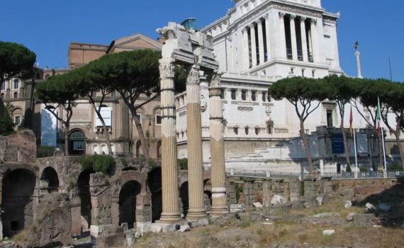 Nordseite des Forum Romanum, Rom, 2009