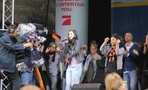 Empfang für Lena Meyer-Landrut nach dem ESC-Gewinn am Neuen Rathaus, Hannover, 2010