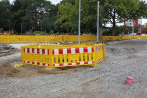 Baustellensicherung Celler Straße, Hannover, 2012