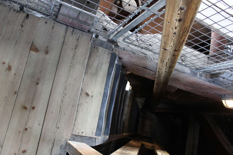 Treppenhaus im Kirchtum der Von Freisers Kirke, Kopenhagen, 2013