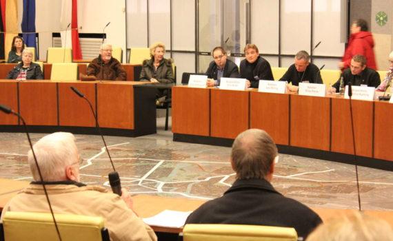 Fragestunde an die Politik im Ratssaal, Neujahrsempfang im Neuen Rathaus, Hannover, 2014