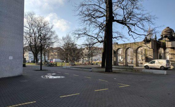 Emmichplatz und Musikhochschule, Hannover, März 2018