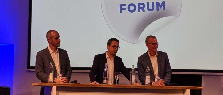 Belit Onay, Marc Hansmann und Eckhard Scholz im HAZ-Forum zur Oberbürgermeister-Kandidatenbefragung