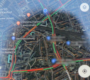 Google Maps: Es geht nicht mehr viel in der hannoverschen Innenstadt...