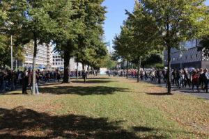 Demonstrationszug auf dem Friedrichswall
