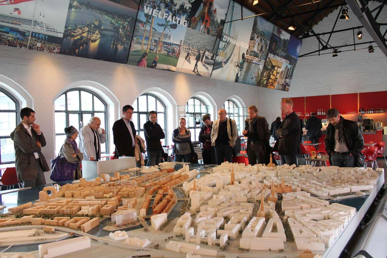 Modell der Hafencity im Kesselhaus in der Speicherstadt, Hamburg, 2013