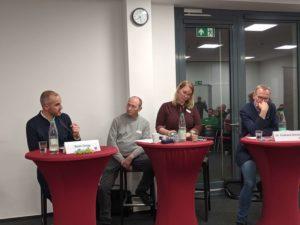 Stichwahl-Diskussionsveranstaltung von Verdi. Im Bild: Belit Onay, Hendrik de Boer, Ramona Heimberg, Eckhard Scholz