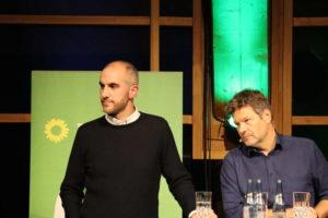 Belit Onay und Robert Habeck beim Townhall-Meeting