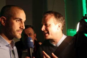 Interview mit dem NDR noch auf der Wahlparty