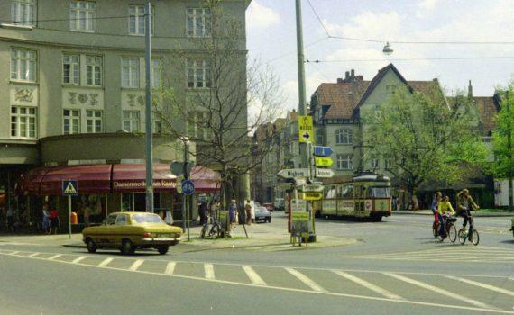 Einmündung der Kirchröder Straße in die Scheidestraße, Juni 1979