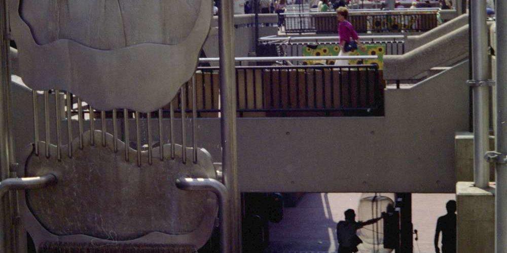 Bahnhofstraße und Passerelle, 1980
