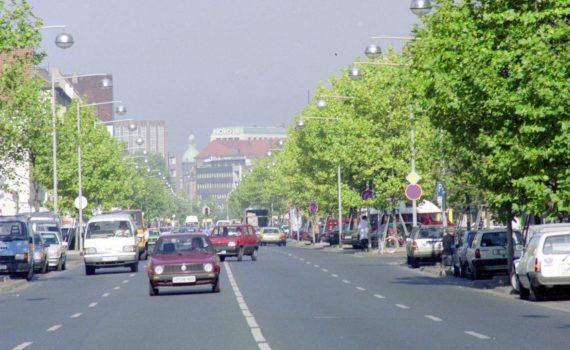Hildesheimer Straße Höhe Geibelstraße, 1990