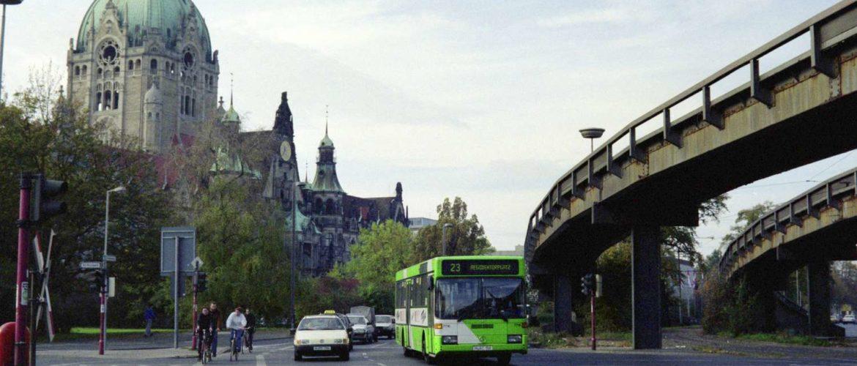Friedrichswall, Kreuzung Am Maschpark, 1990