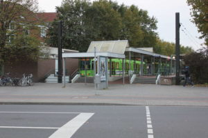 Endstation Alte Heide: Bereits 1979 mit Hochbahnsteig eröffnet